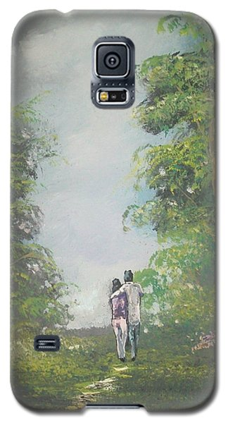 Galaxy S5 Case featuring the painting Our Time Together by Raymond Doward