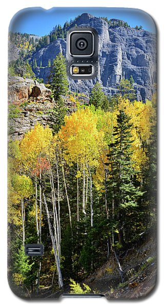 Galaxy S5 Case featuring the photograph Ouray Aspens by Ray Mathis
