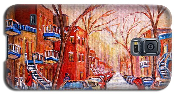 Galaxy S5 Case featuring the painting Out For A Walk With Mom by Carole Spandau