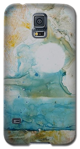 Galaxy S5 Case featuring the painting Out Of Nothing by Elizabeth Carr