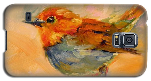 Galaxy S5 Case featuring the painting Out On A Limb by Chris Brandley