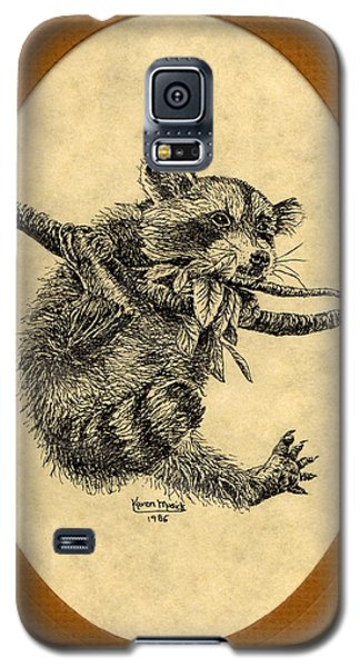Galaxy S5 Case featuring the drawing Out On A Limb by Karen Musick