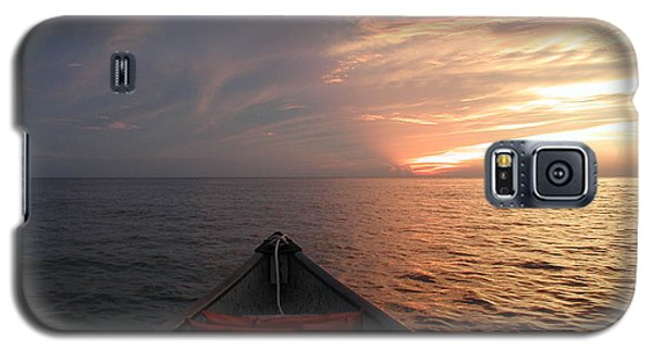 Galaxy S5 Case featuring the photograph Out To Sea by Nancy Taylor