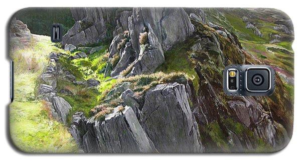 Outcrop In Snowdonia Galaxy S5 Case