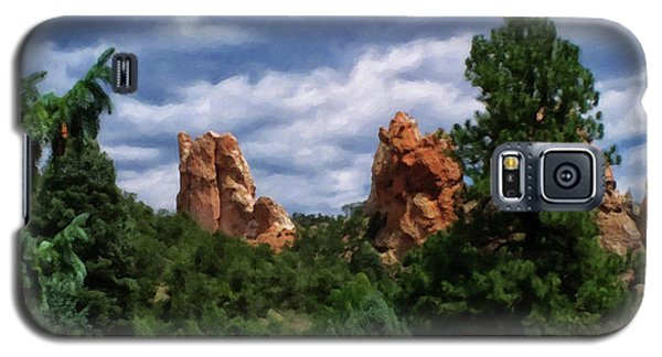 Galaxy S5 Case featuring the digital art outcroppings in Colorado Springs by Chris Flees
