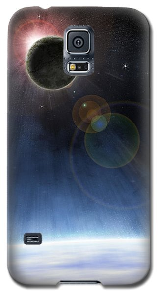 Galaxy S5 Case featuring the digital art Outer Atmosphere Of Planet Earth by Phil Perkins