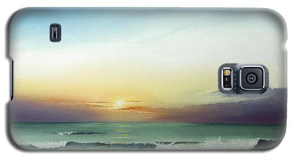 Galaxy S5 Case featuring the painting East Coast Sunrise by Albert Puskaric