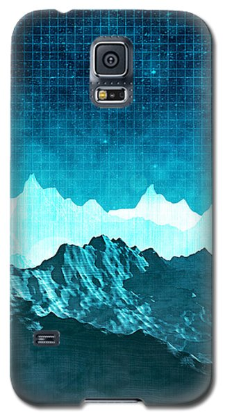 Galaxy S5 Case featuring the digital art Outer Space Mountains by Phil Perkins