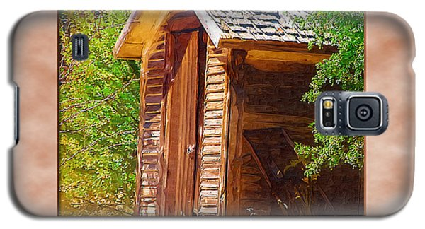 Galaxy S5 Case featuring the photograph Outhouse 1 by Susan Kinney