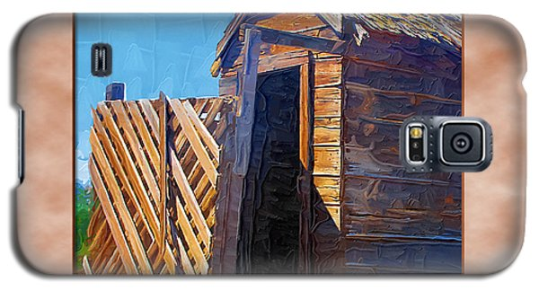 Galaxy S5 Case featuring the photograph Outhouse 2 by Susan Kinney