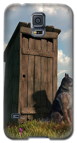 Outhouse Guardian - German Shepherd Version Galaxy S5 Case