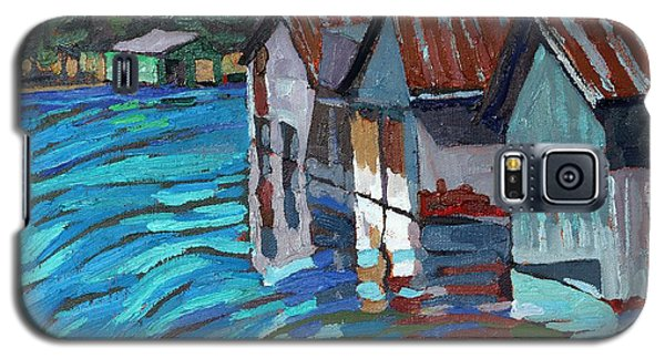 Outlet Row Of Boat Houses Galaxy S5 Case