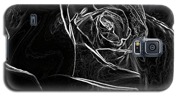 Galaxy S5 Case featuring the photograph Outline Of A Rose by Micah May