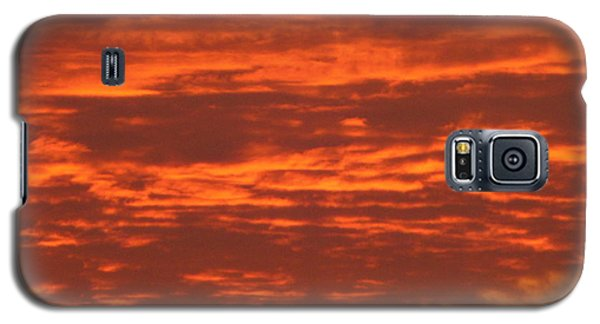 Galaxy S5 Case featuring the photograph Outrageous Orange Sunrise by Rockin Docks Deluxephotos