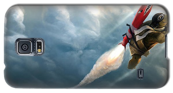 Galaxy S5 Case featuring the digital art Outrunning The Clouds by Steve Goad