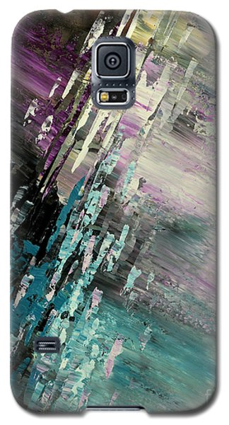 Galaxy S5 Case featuring the painting Over Cosmic Clouds by Tatiana Iliina