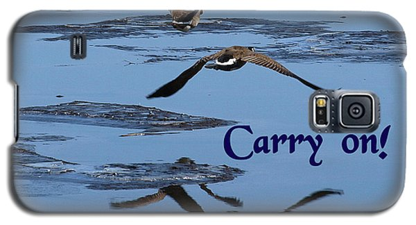 Galaxy S5 Case featuring the photograph Over Icy Waters Carry On by DeeLon Merritt