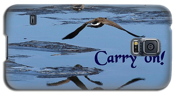 Over Icy Waters Carry On Galaxy S5 Case by DeeLon Merritt
