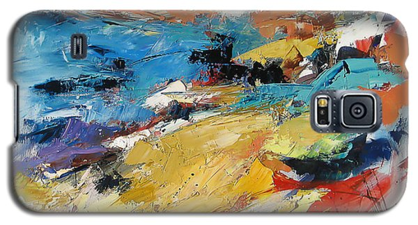Galaxy S5 Case featuring the painting Over The Hills And Far Away by Elise Palmigiani