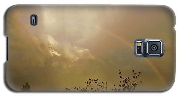 Galaxy S5 Case featuring the photograph Over The Rainbow Garden by Deborah Moen