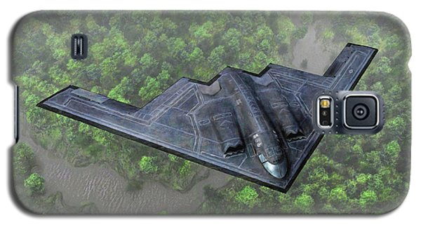 Over The River And Through The Woods In A Stealth Bomber Galaxy S5 Case