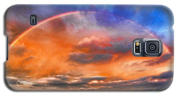 Galaxy S5 Case featuring the photograph Over The Top Rainbow by Steve Siri