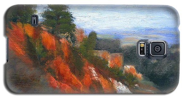 Galaxy S5 Case featuring the painting Overlook by Gail Kirtz