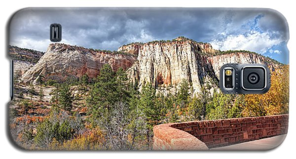 Galaxy S5 Case featuring the photograph Overlook In Zion National Park Upper Plateau by John M Bailey