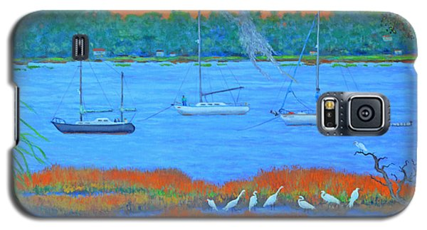 Galaxy S5 Case featuring the painting Overnight In Beaufort by Dwain Ray