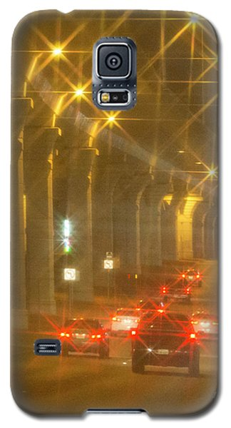 Galaxy S5 Case featuring the photograph Overpass Traffic by Linda Phelps