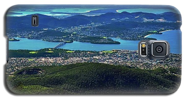 Overview Of Hobart Tasmania Galaxy S5 Case by Kirsten Giving
