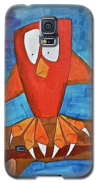 Galaxy S5 Case featuring the painting Owel by Donna Howard