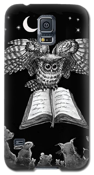 Owl And Friends Blackwhite Galaxy S5 Case