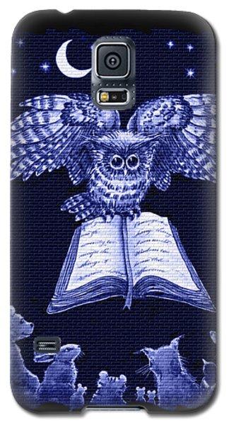 Owl And Friends Indigo Blue Galaxy S5 Case