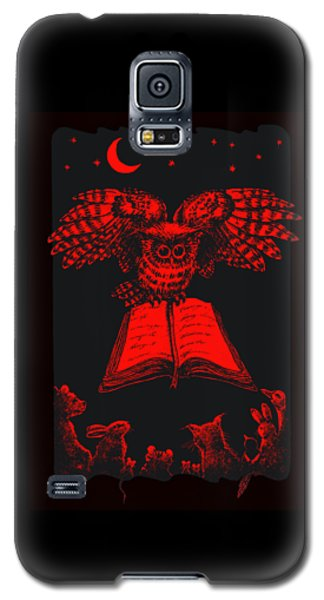 Owl And Friends Redblack Galaxy S5 Case