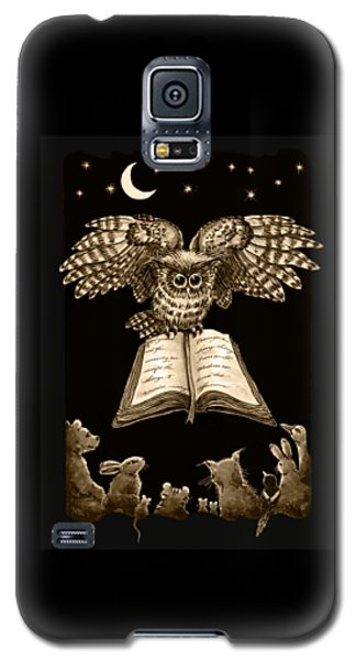 Owl And Friends Sepia Galaxy S5 Case
