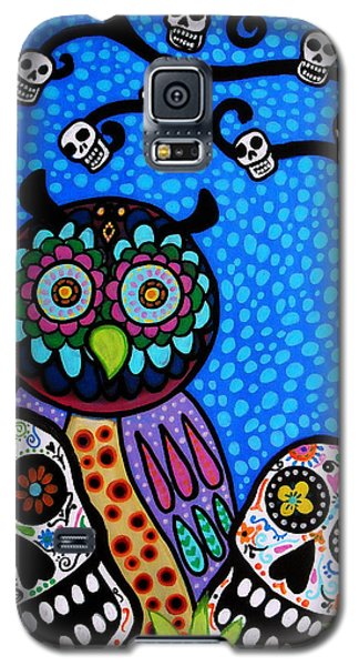 Owl And Sugar Day Of The Dead Galaxy S5 Case