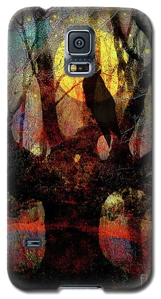 Owl And Willow Tree Galaxy S5 Case