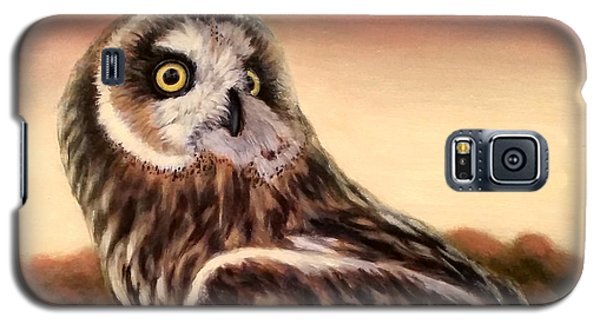 Owl At Sunset Galaxy S5 Case