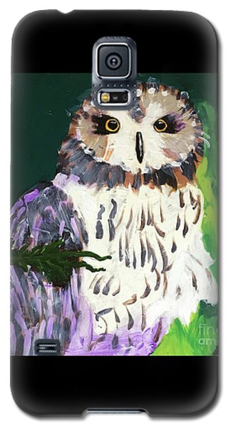 Owl Behind A Tree Galaxy S5 Case
