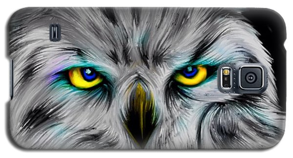 Galaxy S5 Case featuring the drawing Owl Eyes  by Nick Gustafson
