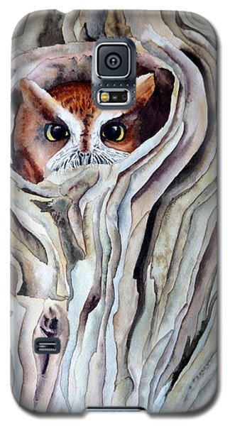 Galaxy S5 Case featuring the painting Owl by Laurel Best