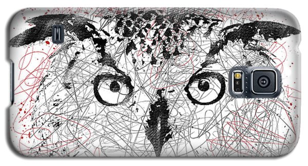 Owl Sketch Pen Portrait Galaxy S5 Case