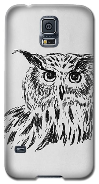 Owl Study 2 Galaxy S5 Case by Victoria Lakes