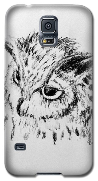 Galaxy S5 Case featuring the drawing Owl Study by Victoria Lakes