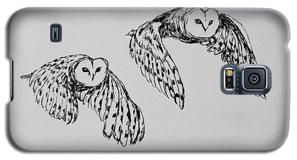 Owls In Flight Galaxy S5 Case by Victoria Lakes