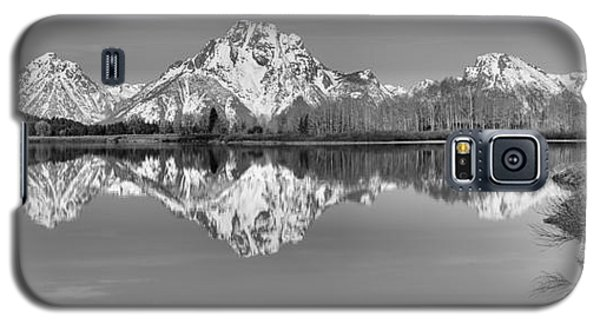 Oxbow Bend Panorama Black And White Galaxy S5 Case by Adam Jewell