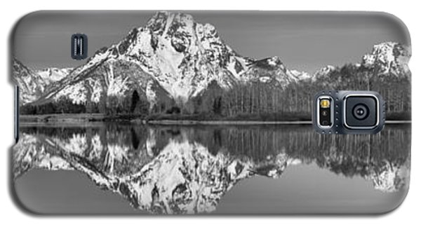 Oxbow Snake River Reflections Black And White Galaxy S5 Case by Adam Jewell