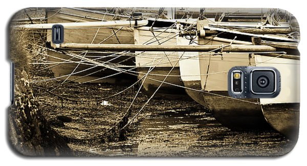 Oyster Boats Laid Up At Mylor Galaxy S5 Case by Brian Roscorla
