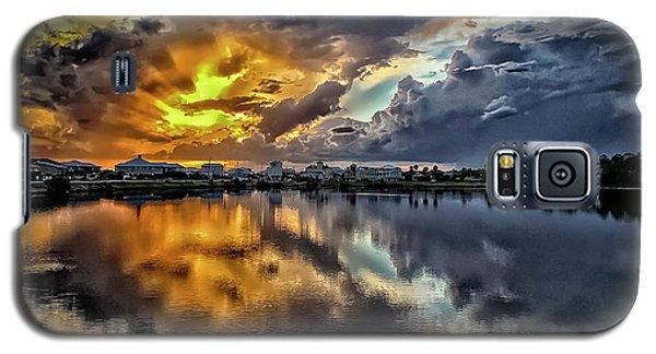 Oyster Lake Sunset Galaxy S5 Case by Walt Foegelle